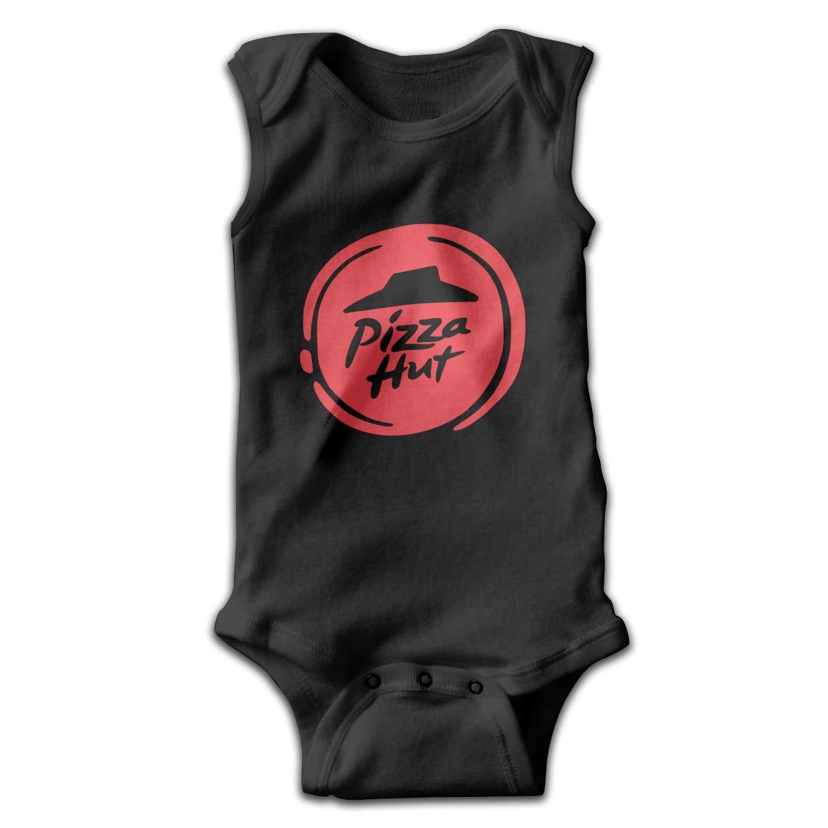 Pizza Slice Low Profile Logo Smalls Baby Onesie,Infant Bodysuit Black