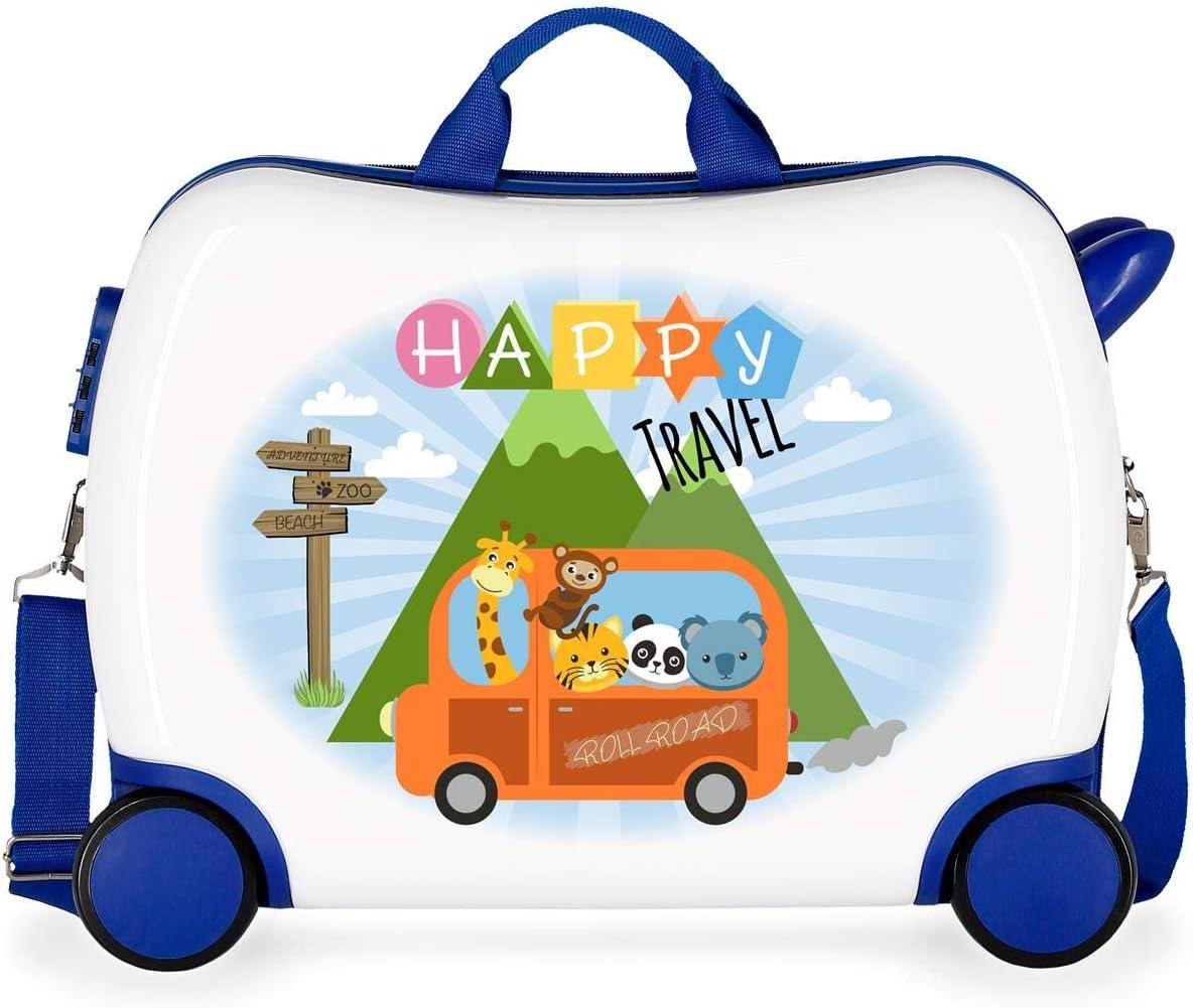 Roll Road Little Me Happy - Maleta correpasillos, 50 cm, Multicolor