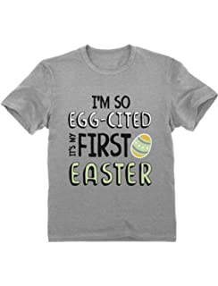 First easter bib blue babies first easter bib easter gift 1st easter green turtle t shirts egg cited its my first easter babies toddlerinfant negle Gallery