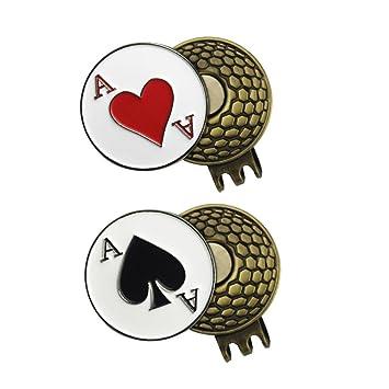 d9280e8348 2juegos de marcadores para pelotas de Golf con clip de gorra -  Variado,