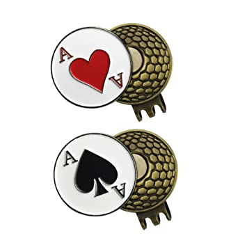 2juegos de marcadores para pelotas de Golf con clip de gorra - Variado,