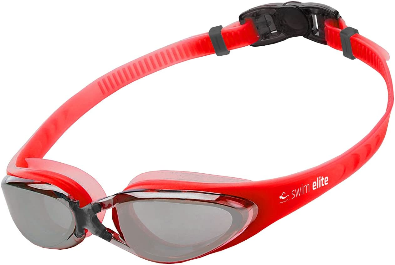 Blue Black Kids Swim Goggle For Adults Red or Aqua Pink SWIM ELITE Pro Swimming Goggles with UV and Anti Fog Protection Juniors Indoor and Outdoor including Triathlon//Lido Training