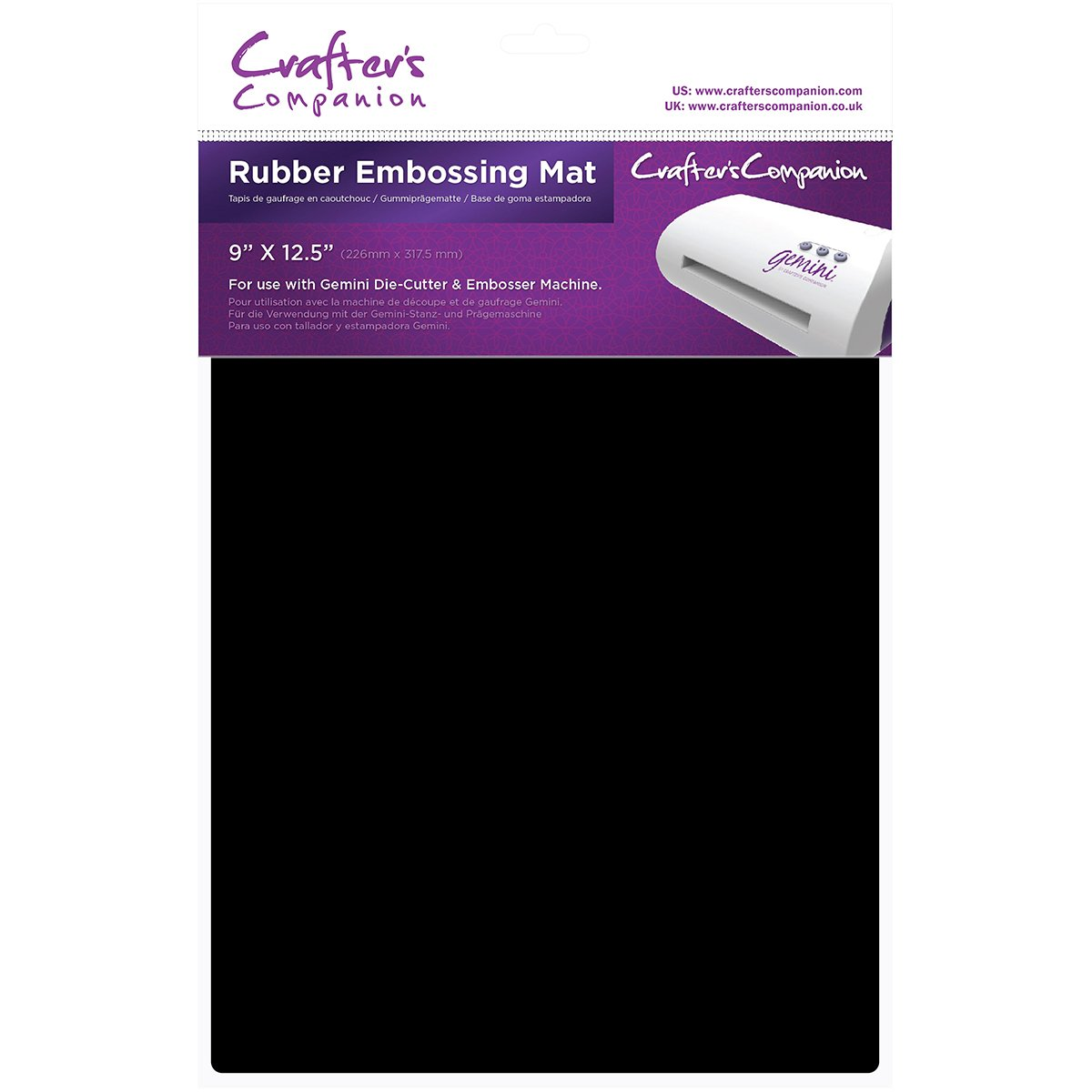 Crafters Companion Gemrubm Gemini Rubber Embossing Mat 9 X 12.5 Inches (6 Pack)
