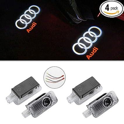 fb3d11adaf12 Kanuoc Audi Easy Installation Car Door LED Lighting Logo Projector Door  Step Courtesy Light (4
