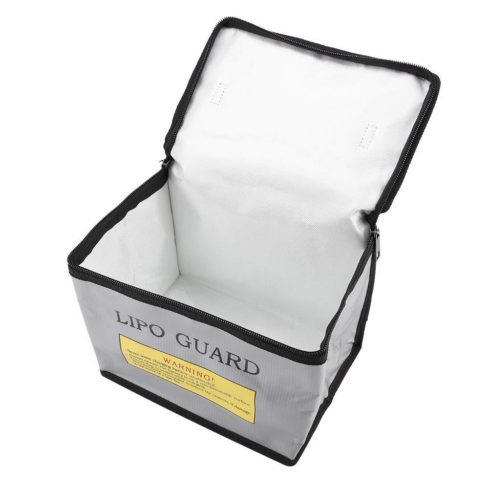 TOPINCN Lipo Safe Bag Sac de Protection Ignifuge Anti-Explosion pour Batterie Lipo de Stockage et de Charge Durable Portable Double Fermeture /Éclair