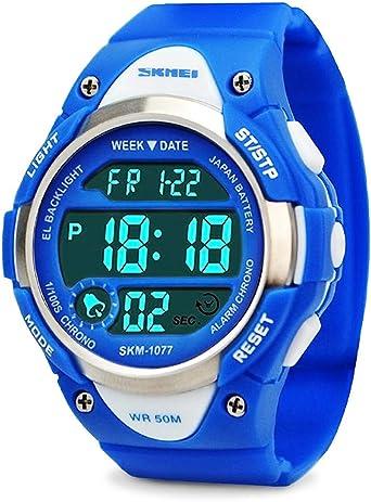 garçons Digital, montres enfants montre de sport avec alarme