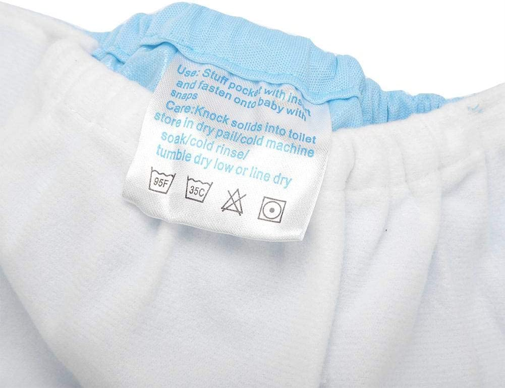#1 Baby Cloth Pocket Diaper Breathable Waterproof Nappy Pants Adjustable Super Absorbent Underwear Pants for Baby Infants Leak Free