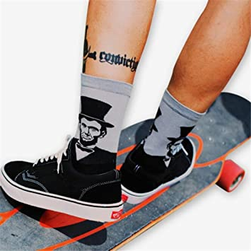 Vwh Unisex - Calcetines largos Retro calcetines graciosos para hombres mujeres niños gris: Amazon.es: Deportes y aire libre