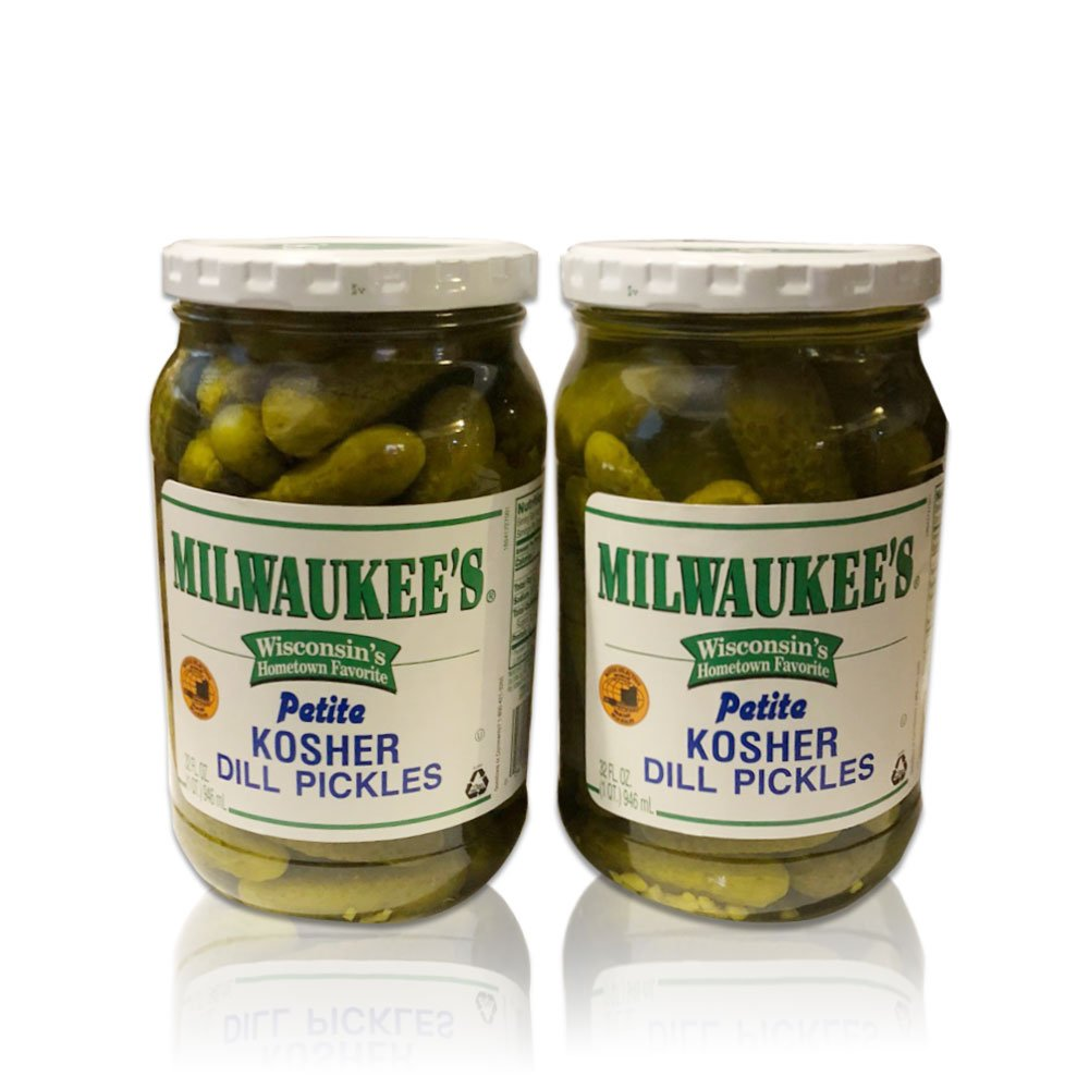 Pinnacle Foods Milwaukee Petite Kosher Dill Pickle, 32 Ounce (2 Pack)