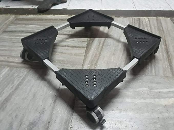 A.P. FURNITURE Smart Adjustable Top Loading Fully Automatic Stand/Washing Machine Trolley Floor Trays