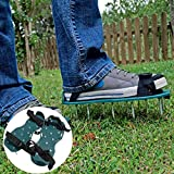 Gardening Grass Lawn Plastic Aerating Shoes Greensward Spikes Loosening Equipment