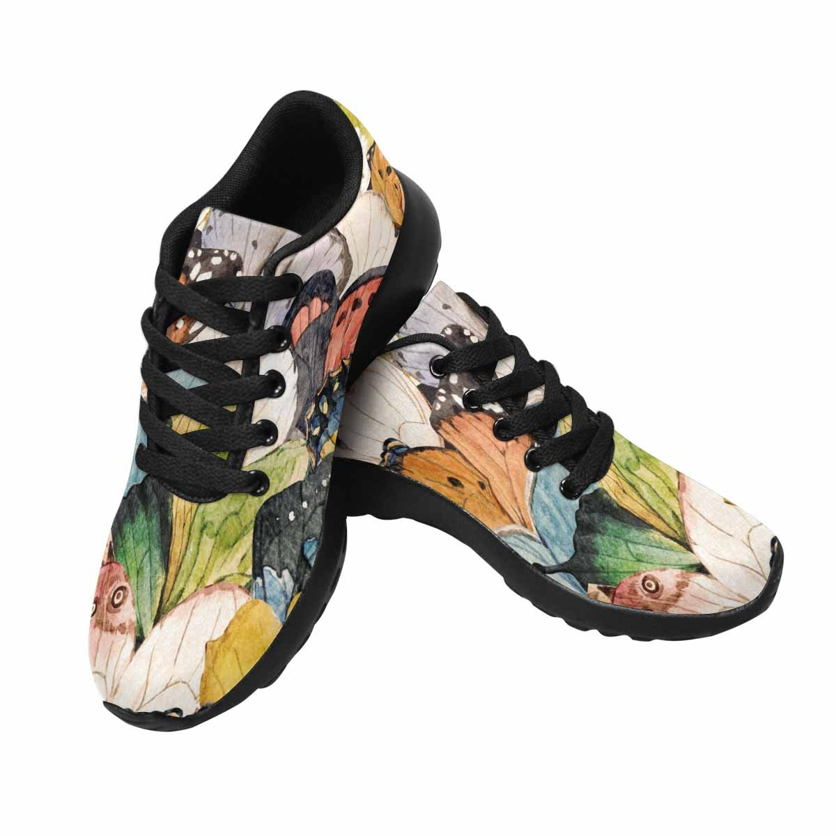 InterestPrint Women's Go Easy Walking Comfort Sports Athletic Shoes Bright Pattern Butterfly Wings US 7
