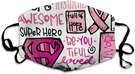 Tdynasty Unisex Mouth Mask Fashion Pink Ribbon Flag Breast Cancer Awareness Surgical Masks Can Be Washed Reusable For Outdoor Cycling Amazon Ca Home Kitchen