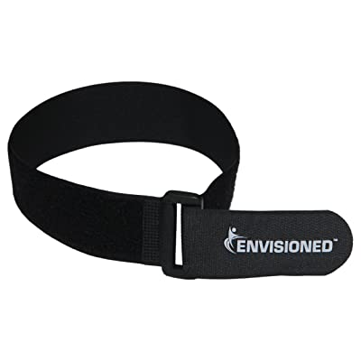 "Reusable Cinch Straps 2"" x 72"" - 2 Pack - Hook and Loop Straps (Black): Industrial & Scientific"