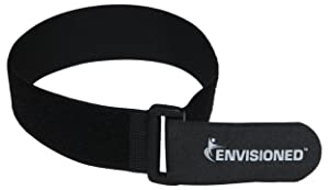 "Reusable Cinch Straps 2"" x 40"" - 6 Pack, Multipurpose Strong Gripping, Quality Hook and Loop Securing Straps (Black)"