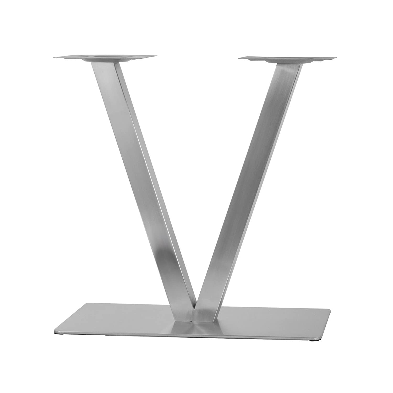 Tischgestell aus Edelstahl Modell X Setpreis 1 Paar
