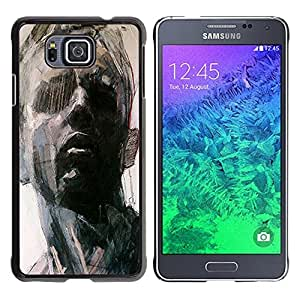 iKiki Tech / Estuche rígido - Portrait Man Art Painting Think - Samsung GALAXY ALPHA G850