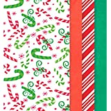 "Amscan Candy Canes and Christmas Colors Printed Tissue For Gift Bags (Pack of 30), Multicolor, 20"" x 20"""