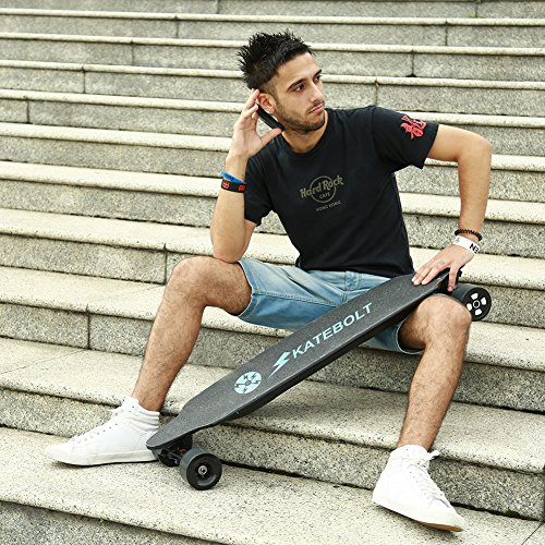SKATEBOLT Electric Skateboard,Max Range 15 Miles,Top Speed 25 MPH,Dual Motor 1000W,9 Layers Maple with Remote Controller,Tornado 2nd Generation