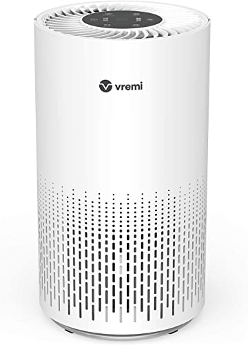 AZEUS High CADR Air Purifier for Home, Large Rooms to 376ft , Fast Purification, True HEPA Filter Air Cleaner, Filters Allergies, Pollen, Smoke, Dust, Pet Dander, Quiet, 100 Ozone-Free, Night Light