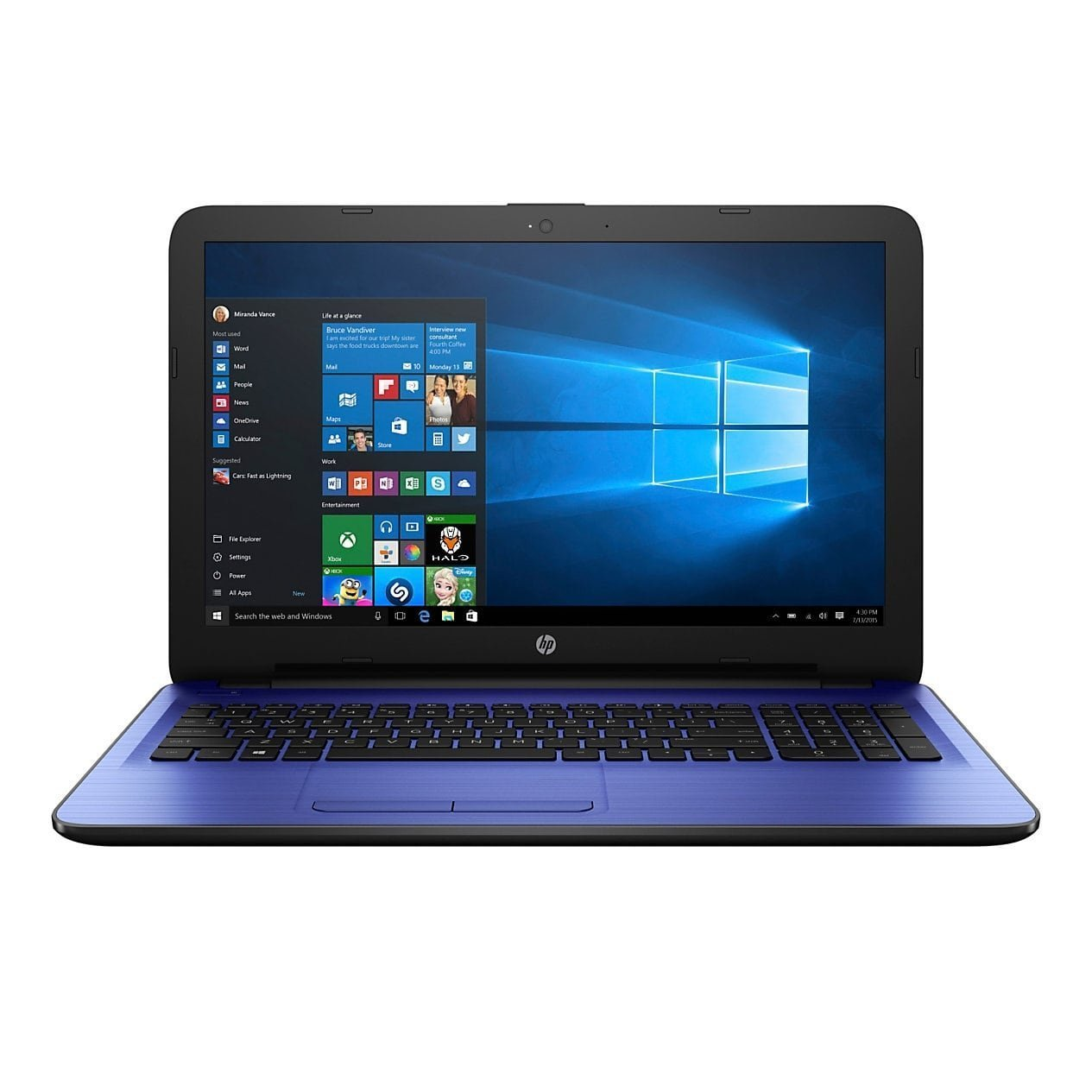 HP 14'' Laptop PC Intel N3060 Dual Core 1.6 Ghz turbo up to 2.48GHz, 4GB RAM, 32GB eMMC, free 1-yr Office 365, DTS Studio, 802.11bgn WiFI, HDMI/VGA, HD Webcam, USB 3.0, 10/100 Ethernet, Windows 10