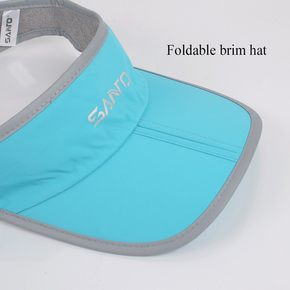 Foldable Visor Sun Hat - Outdoor Run Golf Hats with Adjustable Velcro -  Quick-drying Nylon Running Tennis Visors Caps Sports Training - Shadow  Visor Cap for ... e6d526a4ae80