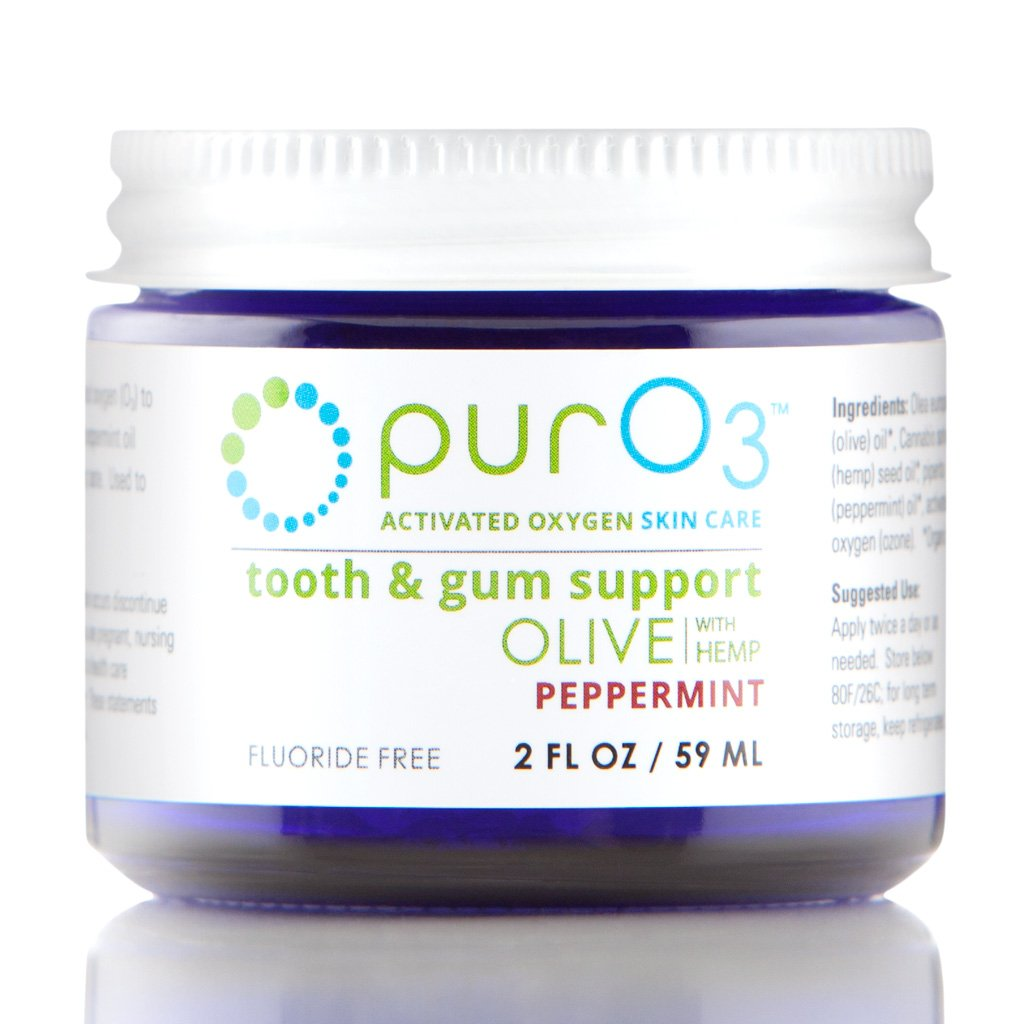 PurO3 Tooth and Gum Support (Peppermint) - Ozonated Oil for Teeth and Gums by Pur O3