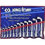 king tony 1812MR Trousse de Clés à Pipe Métriques, Set de 12