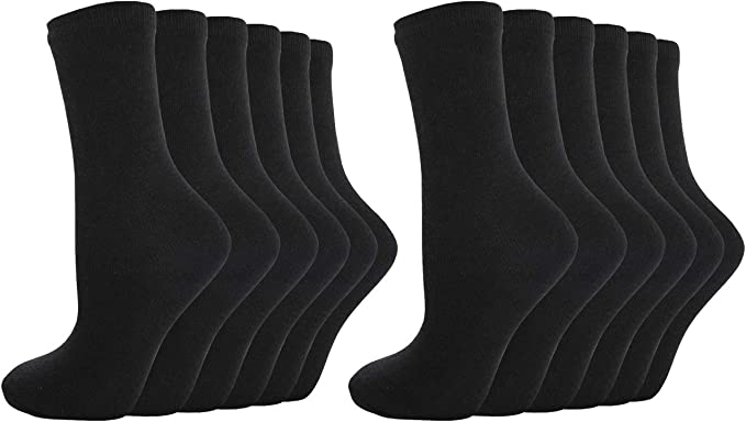 Metzuyan Kids Boys Girls Back to School Cotton Rich Ankle Socks 9 or 12 Pairs