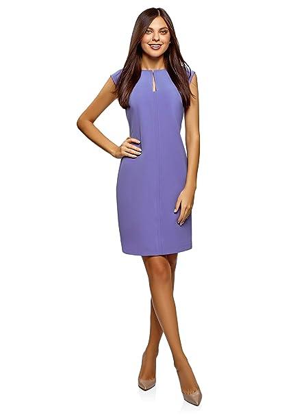 56dd0a215c97 oodji Collection Donna Abito Aderente con Scollo Sagomato  Amazon.it   Abbigliamento