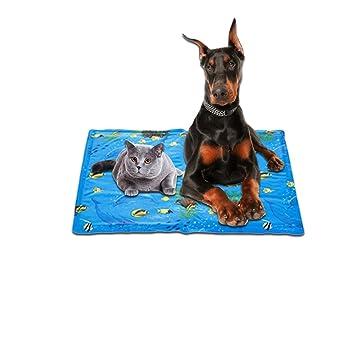 Jannyshop - Alfombrilla de refrigeración para mascotas de verano, para cama de hielo para perros