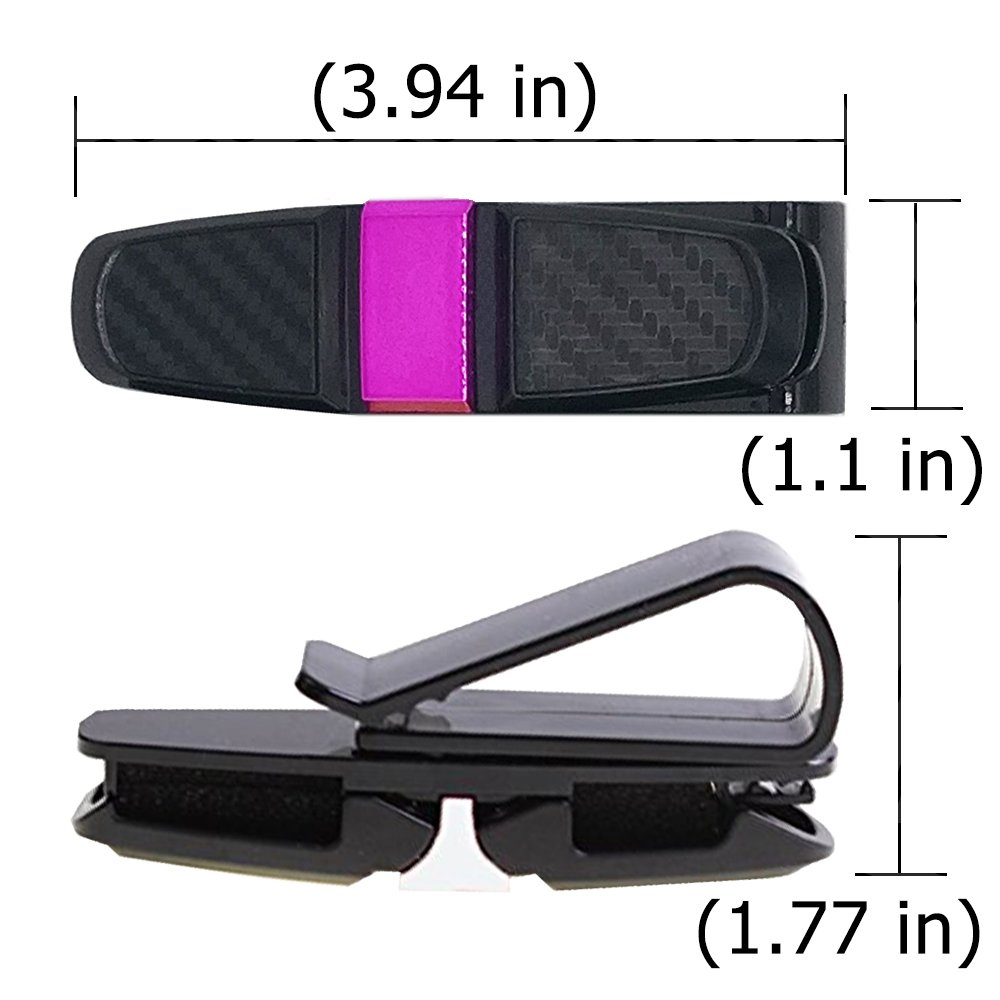 ANIN Vehicle Glasses Clips for Holding Eyeglasses Cards Tickets Gold 3 Packs Double Sunglasses Holders for Sun Visor of Car Silver Rose Black