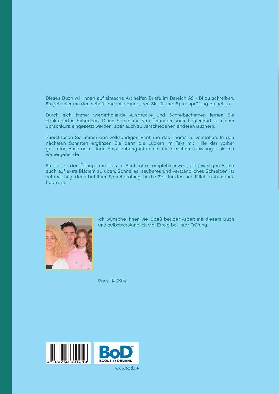 briefe schreiben deutsch als fremdsprache bungen fr a2 und b1 amazonde illya kozyrev bcher - B1 Prufung Brief Schreiben Beispiel