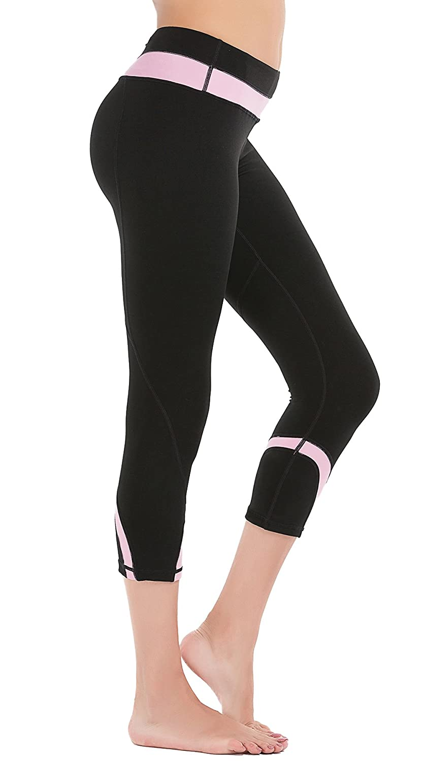 0211238a605724 DeepTwist Womens Yoga Pants Stirrup Leggings Power Stretch Gym Running  Workout Tights: Amazon.co.uk: Clothing