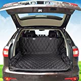 Rexway 2018 Premium Cargo Liner Cover for SUVs, Trucks and Cars, 100% Waterproof Material and Non-Slip Backing with Bumper Flap Protection, Perfect Large Size Universal Fit Large (Large(55''x106''))