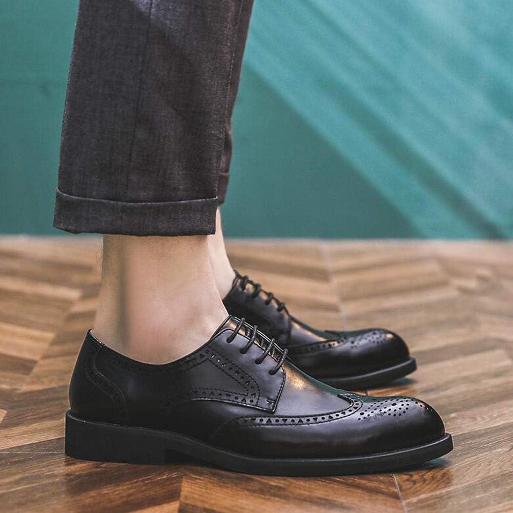 WMZQW Cuir Chaussures Homme Business Mariage Dressing Brogue Cuir Derby Oxford Chaussure de Ville /à Lacets Noir 38-44