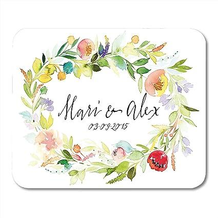 Amazon Com Boszina Mouse Pads Border Floral Watercolor Flowers