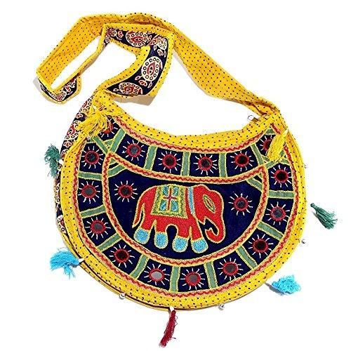 Exportations main main à la à Sac Chic bandoulière Boho Patchwork 125 brodée épaule Sac hippie Shree Gypsy B fait à CwaqWddg