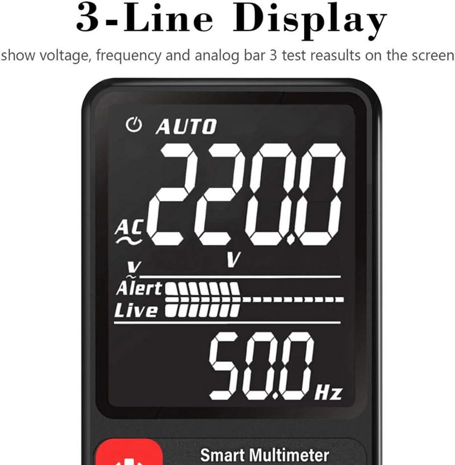 Doggo Smart Auto Digital Multimeter Large Screen Display Voltage Resistance Tool ADMS9CL