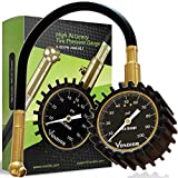 Vondior Heavy Duty Tire Pressure Gauge (0-100 PSI)- Certified ANSI Accurate With large 2'' Easy Read Glow Dial and Solid Brass Material, Low - High Air Pressure guage Match for Car and Trucks Tires by