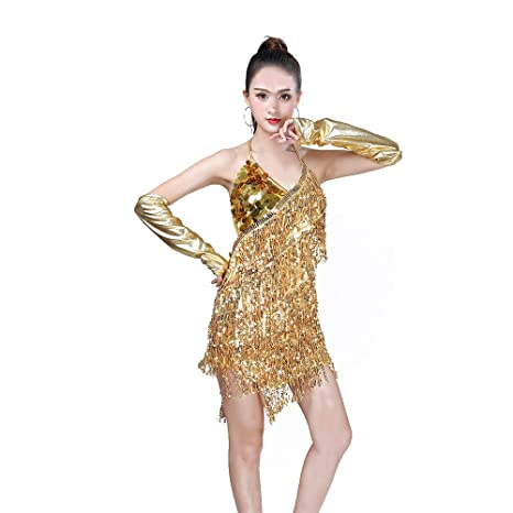 MX kingdom Vestido Baile Latino,Vestido Baile Latino NiñA ...