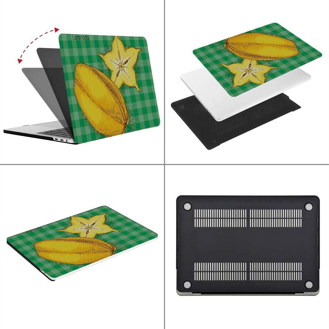 MacBook Pro Case Card Ripe Yellow Carambola On Green MacBook Air 13 A1932 Plastic Case Keyboard Cover /& Screen Protector /& Keyboard Cleanin Touch ID