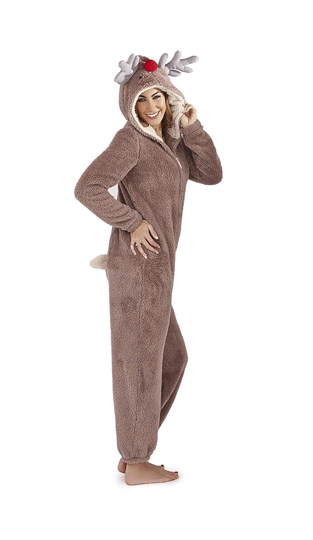 para Damas Todo en Uno con Capucha Mono de Forro Polar