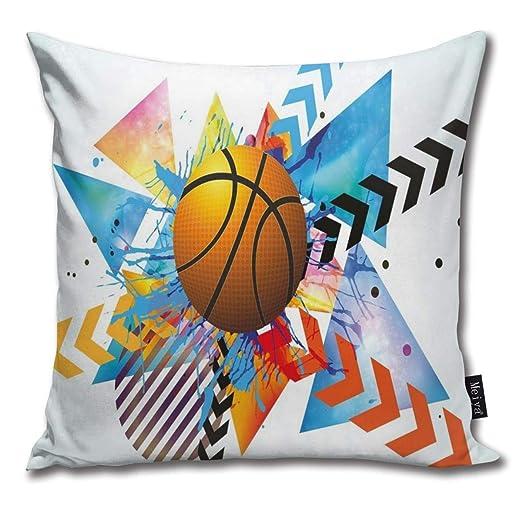 N/A - Funda de cojín con diseño de balón de Baloncesto en Frente ...
