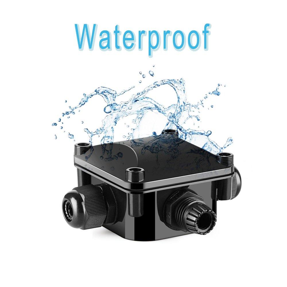 Bkinsety Wasserdichte Abzweigdose Draussen//Extern Elektrischer Anschlusskasten 4er-Pack Wasserdichte Verbindungsdose Kabelmuffe