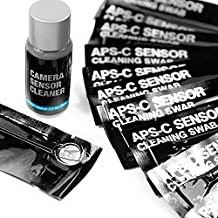 UES APSC16 Professional DSLR SLR Digital Camera CMOS and CCD Sensor Cleaning Swab Kits for Advanced Photo System Type-C APS-C Sensors: 14 X 16mm APS-C Sensor Cleaning Swabs + 15ml Sensor Cleaner