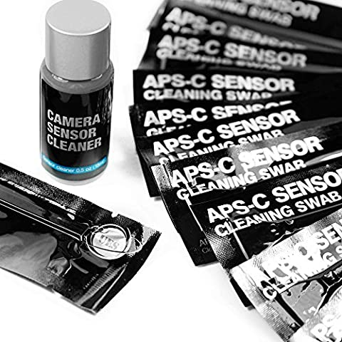 UES ASPC-16 Professional Sensor Cleaning Kits for Advanced Photo System Type-C (APS-C) Sensor (CMOS and CCD): 14 Sensor Cleaning Swabs and 15ml Sensor Cleaner