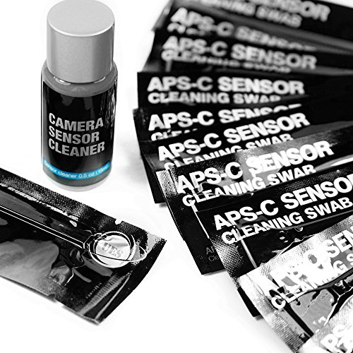- UES APSC16 Professional DSLR SLR Digital Camera CMOS and CCD Sensor Cleaning Swab Kits for Advanced Photo System Type-C APS-C Sensors: 14 X 16mm APS-C Sensor Cleaning Swabs + 15ml Sensor Cleaner