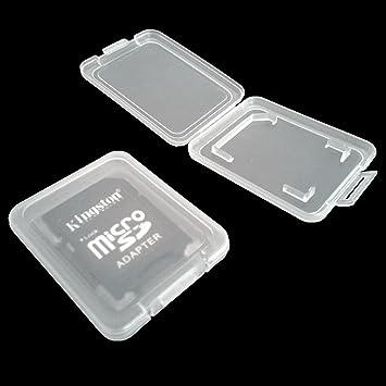 tinxi® 10x Caja plástica de Tarjeta de la de memoria Case para el adaptador de tarjeta de almacenamiento tarjeta de memoria SD MMC