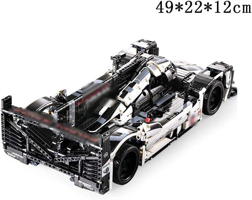 Zidao Tecnologia Auto Blocchi di Costruzione Sport, Corse Modello di Auto Bauset Parti Costruzione Giocattolo Compatibile con Auto Modello Lego Auto Sportive di Blocchi costruttivi Bauset,Nero Black